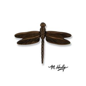 Dragonfly in Flight Door Knocker, Oiled Bronze (Premium)