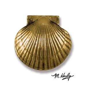 Sea Scallop Door Knocker, Brass (Premium)