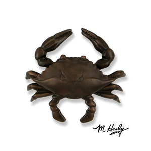Blue Crab Door Knocker, Oiled Bronze (Premium)