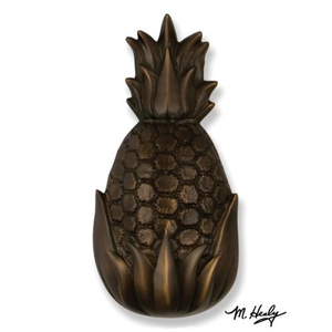 Hospitality Pineapple Door Knocker , Oiled Bronze (Premium)