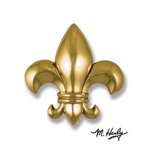Fleur de Lys Door Knocker, Brass (Premium)