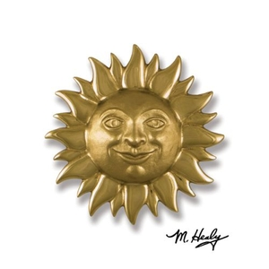 Smiling Sunface Door Knocker, Brass (Premium)