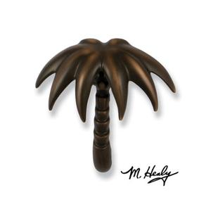 Palm Tree Door Knocker, Oiled Bronze (Premium)