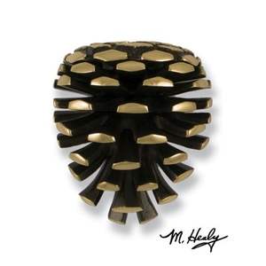 Pinecone Door Knocker, Brass (Premium)