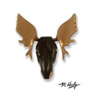 Moose Door Knocker, Brass/Bronze (Premium)