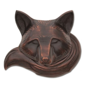 Fox Door Knocker, Oiled Bronze (Premium)