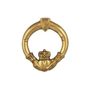 Claddagh Door Knocker, Brass (Premium)