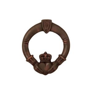 Claddagh Door Knocker, Oiled Bronze (Premium)