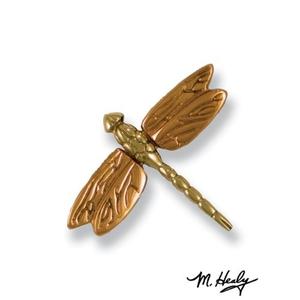 Dragonfly in Flight Doorbell Ringer, Brass/Bronze