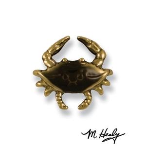Blue Crab Doorbell Ringer, Brass