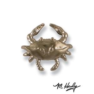 Blue Crab Doorbell Ringer, Nickel Silver
