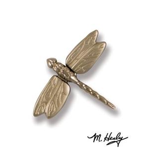Dragonfly in Flight Doorbell Ringer, Nickel Silver