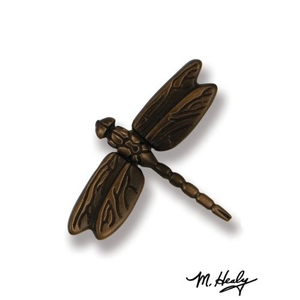 Dragonfly in Flight Doorbell Ringer, Oiled Bronze