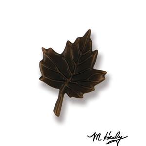 Maple Leaf Doorbell Ringer, Oiled Bronze