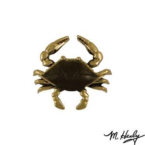 Blue Crab Door Knocker, Brass (Standard)