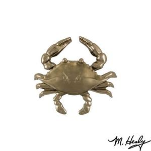 Blue Crab Door Knocker, Nickel Silver (Standard)