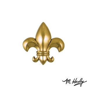 Fleur de Lys Door Knocker, Brass (Standard)