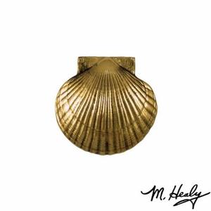Sea Scallop Door Knocker, Brass (Standard)