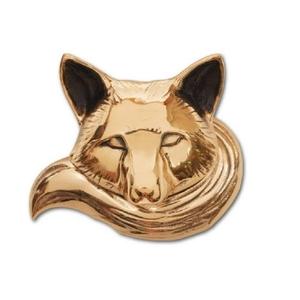 Fox Door Knocker, Brass (Standard)