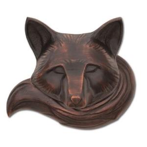 Fox Door Knocker, Oiled Bronze (Standard)