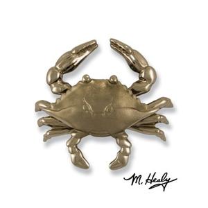 Blue Crab Door Knocker, Nickel Silver (Premium)