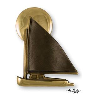 Catboat at Sunset Door Knocker, Brass/Bronze (Premium)