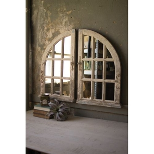 Arched Windowith Mirrors Set of Two