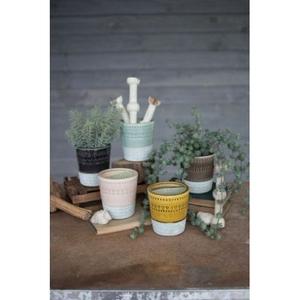 Ceramic Pots - One Each Color Set of 5