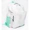 Sailcloth Cabana Backpack, White with Aqua