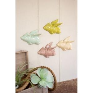 Ceramic Flying Pigs Set of 4