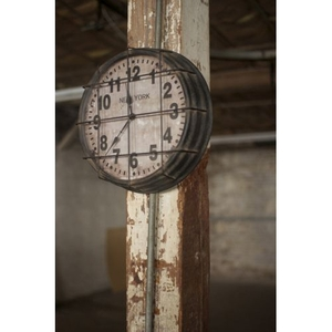Metal Newith York Subway Clock