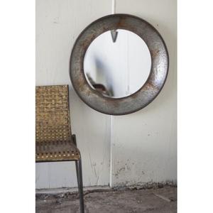 Round Natural Metal Mirror