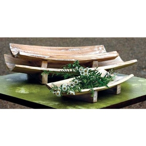 Rectangle Curved Wooden Bowls Set of 3