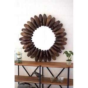 Round Wooden Shoe Mold Mirror