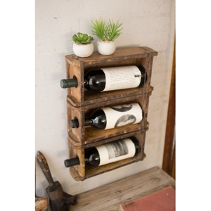 Hanging Brick Mold Wine Rack
