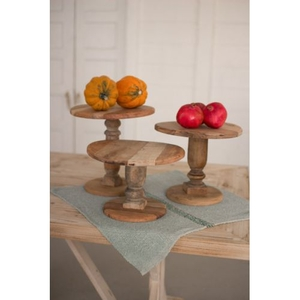 Recycled Wooden Display Stands Set of 3