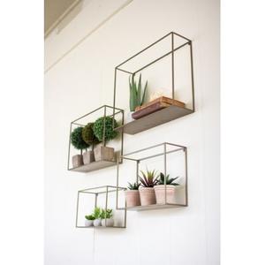 Metal Shelves Set of 4