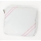 Sailcloth Cabana Accessory Pouch, White with Pink
