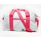 Sailcloth Cabana Small Duffel, White with Pink