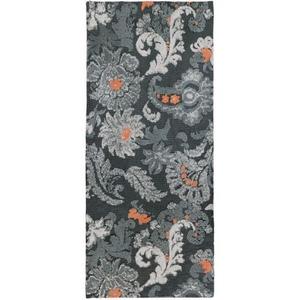 Gray Flannel Floral Indoor Microfiber Rug, 26 X 60 Runner