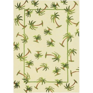 Hanalei Palm Indoor Outdoor Hand Hooked Area Rug, 8 X 10 Ft.
