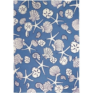 Serenity At Sea Indoor Outdoor Hand Hooked Area Rug, 5 X 7 Ft.