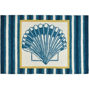 Clam Shell Tile Indoor Accent Rug 22 x 34 In.