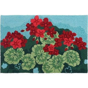 Geranium Garden Indoor Accent Rug 22 x 34 In.