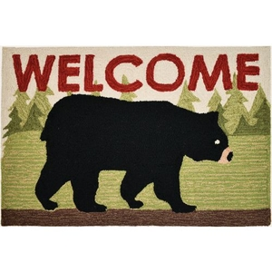 Black Bear Welcome Indoor Accent Rugs 22 x 34 In.