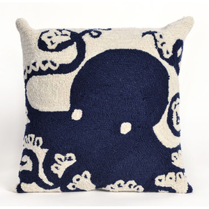 Octopus Navy Indoor Outdoor Pillow