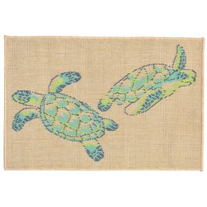 Sea Turtles Cool Indoor Outdoor Rug