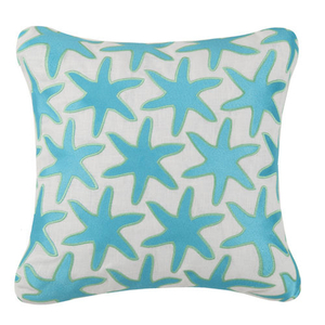 Seastar Pattern Embroidered Pillow