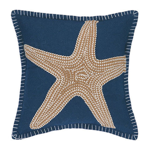 Seastar Embroidered Pillow