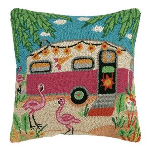 Flamingo Caravan Hook Pillow